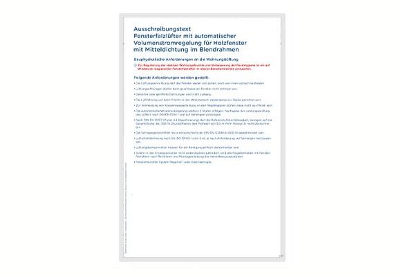 Ausschreibungstext Regel-air® FFLHA Typ 23