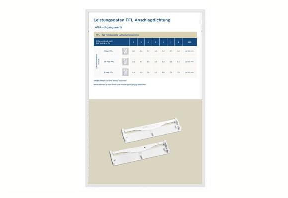 Luftdurchgangswerte Regel-air® FFL Anschlagdichtung
